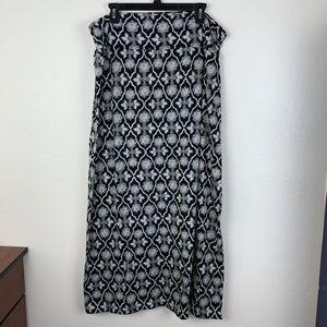 "Faded Glory Trellis Floral Boho Pattern Skirt 39"""